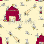Mouse Circus Seamless Vector Pattern Design
