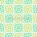 Floral Swirl Seamless Vector Pattern Design