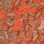 Oriental Fantasies Seamless Vector Pattern Design