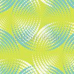 círculos de arte sonora Design de padrão vetorial sem costura
