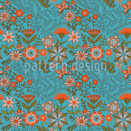 Flowers In The Water Park Seamless Vector Pattern Design