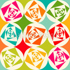 Square Roses Repeating Pattern