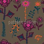 Die Blumen Von Kasachstan Nahtloses Vektormuster