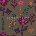 As Flores do Cazaquistão Design de padrão vetorial sem costura