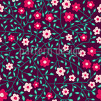 Fine Little Flowers Seamless Vector Pattern Design
