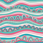 Waves Of Candy Ocean Seamless Vector Pattern Design