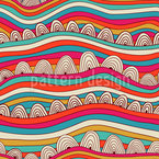Wavy Dreamland Seamless Vector Pattern Design