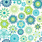 Fresh Retro Flower Spring Repeat Pattern