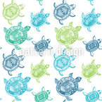 The Fantastic Journey Of The Sea Turtles Seamless Vector Pattern Design