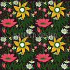 Alpine Magic Garden Seamless Vector Pattern Design