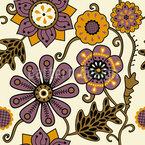 花の憂鬱 シームレスなベクトルパターン設計