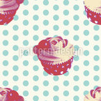 Cupcake Baby Seamless Vector Pattern Design