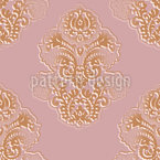 Silhouette Baroque Seamless Vector Pattern Design