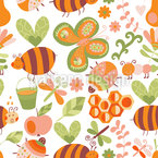Mellifluous Bees Seamless Vector Pattern Design