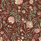 Blumen Symphonie Nahtloses Vektormuster