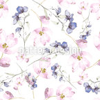 Flower Fairies Seamless Vector Pattern Design