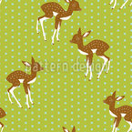 Little Polka Fawn Seamless Vector Pattern Design