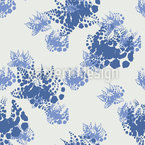 Mühlviertel Flowers Seamless Vector Pattern Design