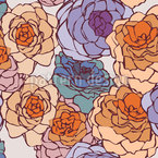 Rose Art Nouveau Seamless Vector Pattern Design