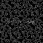 Starfish Monochrome Seamless Pattern