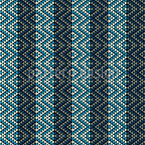 Ethno Rhombes On Stripes Seamless Vector Pattern Design