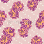 Pair Of Roses Seamless Vector Pattern Design