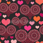A Heart For Folklore Seamless Vector Pattern Design
