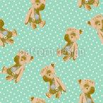 Mein Erster Teddy Nahtloses Vektor Muster