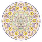 Florales Mandala Rapportmuster