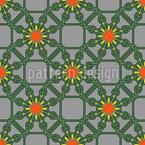花柄ワイヤーフェンス シームレスなベクトルパターン設計