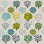 Tree Nursery In Spring Repeating Pattern