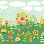 Spätsommer Regen Nahtloses Vektormuster