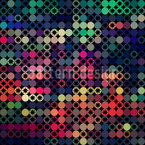 Stars On The Dot Scale Seamless Vector Pattern Design