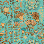 Flowers In Bohemia Seamless Vector Pattern Design