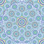 Geometrisches Mandala Nahtloses Vektormuster