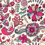 Russian Paradise Repeat Pattern