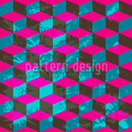 Cube Camouflage Seamless Vector Pattern Design