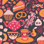 Coffee Party At Tiffanys Seamless Vector Pattern Design