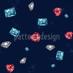 Bling Bling Diamonds Seamless Vector Pattern Design