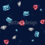 Funkel Diamanten Nahtloses Vektormuster
