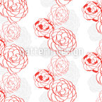Camellia Seamless Vector Pattern Design