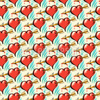 Heartbreaker Seamless Vector Pattern Design