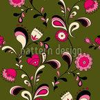 Folk Blumen Nahtloses Vektor Muster