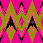 Pop Deco rosa Design de padrão vetorial sem costura