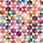 Hexagon Facets Vector Pattern