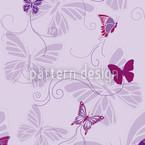 Schmetterlinge Auf Lila Vektor Muster