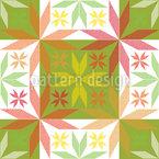Scandinavian Stars In Spring Seamless Vector Pattern Design