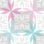 Scandinavian Star Frost Seamless Vector Pattern Design