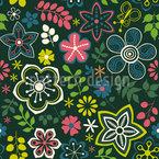 Floral Fantasy Mix Seamless Vector Pattern Design