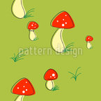 Bold Fly Agarics Repeating Pattern